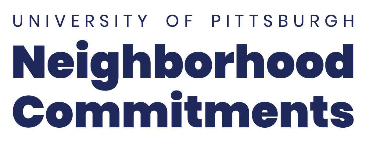 University of Pittsburgh Neighborhood Commitments wordmark