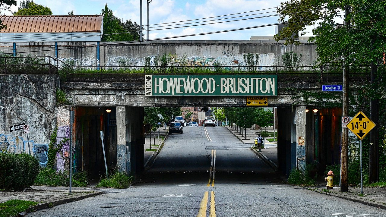 A photo of The Homewood-Brushton Portal / Photo by Clyde Harris